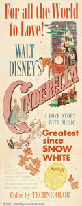 "Movie Posters:Animated, Cinderella (RKO, 1950). Insert (14"" X 36""). Classic children's taleretold through animation as only Walt Disney could do it..."
