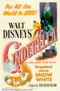 "Movie Posters:Animated, Cinderella (RKO, 1950). One Sheet (27"" X 41""). Walt Disney'sclassic retelling of the famous Grimm's fairytale has been one ..."