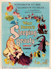 "Sleeping Beauty (Buena Vista, 1959). (30"" X 40""). Beautiful, animated take on the classic children's tale of a..."