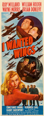 """I Wanted Wings (Paramount, 1941). Insert (14"""" X 36""""). Paramount's star-making vehicle for the young ingenue, V..."""