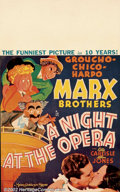 "Movie Posters:Comedy, A Night at the Opera (MGM, 1935). Window Card (14"" X 22""). ClassicMarx Brothers, screwball comedy that has the brothers inv..."
