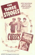 "Movie Posters:Comedy, Creeps (Columbia, 1956). One Sheet (27"" X 41""). The Stooges, Larry,Curly, and Shemp are movers for an express company, and ..."