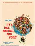 "Movie Posters:Comedy, It's a Mad , Mad, Mad, Mad World (United Artists, 1963). (30"" X40"") Directed by Stanley Kramer, this ""mad"" story tells the ..."