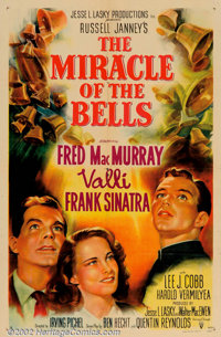 """Miracle of the Bells (RKO, 1948). One Sheet (27"""" X 41""""). Frank Sinatra plays a priest, of all things, in this..."""