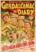 """Movie Posters:War, Guadalcanal Diary (20th Century Fox, 1943). Australian One Sheet(27 """" X 39""""). A war correspondent takes the audience on a j..."""