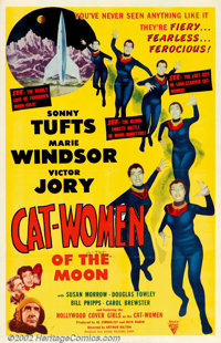 "Cat Women Of the Moon (Astor, 1954). One Sheet (27"" X 41""). What can you say about a movie where the title cha..."