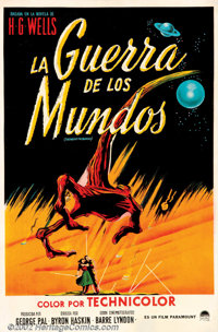 "War of the Worlds (Paramount, 1953). Argentina One Sheet (27"" X 41""). Residents of a small town are intrigued..."