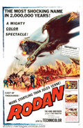"Movie Posters:Science Fiction, Rodan! The Flying Monster (Toho/ RKO 1957). One Sheet (27"" X 41""). After the huge success of ""Godzilla"", Toho Studios felt A..."