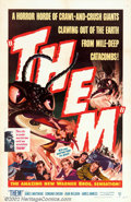 "Movie Posters:Science Fiction, Them (Warner Brothers, 1954). One Sheet (27"" X 41""). Probably the best of the fifties' atomic mutation films. A great script..."