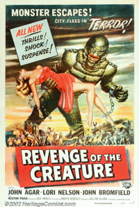 """Revenge Of The Creature (Universal, 1955). One Sheet (27"""" X 41""""). The sequel to Universal's """"Creature Fro..."""