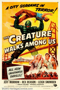 """Creature Walks Among Us, The (Universal, 1956). One Sheet (27"""" X 41""""). This, the third and final installment i..."""