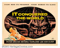 "Movie Posters:Science Fiction, It Conquered the World (American International, 1956). Half Sheet (22"" x 28""). This great poster of the Venusian cucumber mo..."