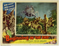 """Movie Posters:Science Fiction, Beginning of the End (Republic, 1957). Lobby Card (11"""" X 14""""). An enterprising journalist goes to get the scoop on giant gra..."""