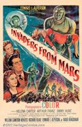 """Movie Posters:Science Fiction, Invaders From Mars (20th Century Fox, 1953). One Sheet (27"""" X 41""""). A classic entry in the early 1950s sci-fi genre finds al..."""