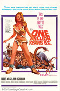 """Movie Posters:Science Fiction, One Million Years B.C. (20th Century Fox, 1966). One Sheet (27"""" X 41""""). Raquel Welch sizzles in her fur bikini in the star-m..."""