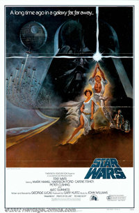 """Star Wars (20th Century Fox, 1976). One Sheet (27"""" X 41"""") Style A. The modern cinema's classic science-fiction..."""