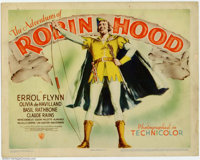 """Adventures of Robin Hood (Warner Brothers, 1938). Partial Lobby Card Set (11"""" X 14""""). Marvelous Hollywood real..."""