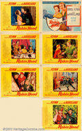 """Movie Posters:Adventure, Adventures of Robin Hood (Warner Brothers, R-1948). Partial Set ofLobby Cards - 7 (11"""" X 14""""). Beautiful set of lobby cards..."""