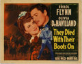 "Movie Posters:Western, They Died With Their Boots On (Warner Brothers, 1942). PartialLobby Card Set (11"" X 14""). Flamboyant Hollywood filming of t..."