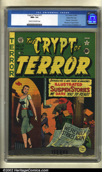 Crypt of Terror #17 Gaines File pedigree (EC, 1950) CGC NM+ 9.6 Cream to off-white pages. This key book is not only the...