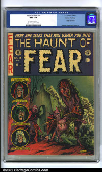 The Haunt of Fear #14 Gaines File pedigree 7/12 (EC, 1952) CGC NM+ 9.6 Off-white to white pages. Graham Ingels liked to...