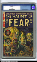 "Golden Age (1938-1955):Horror, The Haunt of Fear #17 Gaines File pedigree 7/12 (EC, 1953) CGC NM+9.6 White pages. Living up to his name, ""Ghastly"" Graham ..."