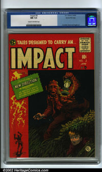 Impact #2 Gaines File pedigree 3/12 (EC, 1955) CGC NM 9.4 Cream to off-white pages. This is the first issue of this titl...