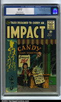 Golden Age (1938-1955):Adventure, Impact #3 Gaines File pedigree 3/12 (EC, 1955) CGC NM 9.4 Cream to off-white pages. By taking one look at these comics, it's...