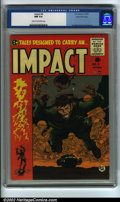 Golden Age (1938-1955):Adventure, Impact #4 Gaines File pedigree 3/12 (EC, 1955) CGC NM 9.4 Cream to off-white pages. This issue has a classic war cover by Ja...