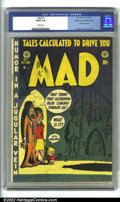 Golden Age (1938-1955):Humor, Mad #1 Mile High pedigree (EC, 1952) CGC GD/VG 3.0 White pages. In the same way that EC influenced future comic creators, ...