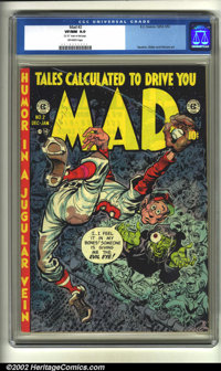 Mad #2 (EC, 1952) CGC VF/NM 9.0 Off-white pages. Here is the classic second issue of a title that has been going strong...