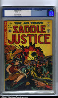 Golden Age (1938-1955):Western, Saddle Justice #7 (EC, 1949) CGC VF/NM 9.0 Cream to off-white pages. Graham Ingels's attention to detail distinguished him f...