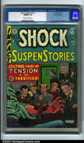 Golden Age (1938-1955):Horror, Shock SuspenStories #1 Gaines File pedigree 8/11 (EC, 1952) CGCNM/MT 9.8 Off-white to white pages. This issue almost defies...