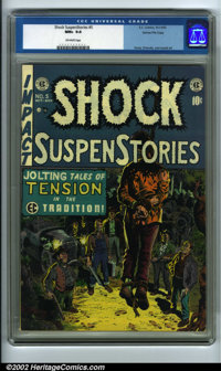 Shock SuspenStories #5 Gaines File pedigree 6/7 (EC, 1952) CGC NM+ 9.6 Off-white pages. It's covers like this one by Wal...