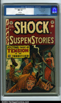 "Golden Age (1938-1955):Horror, Shock SuspenStories #10 Gaines File pedigree 9/12 (EC, 1953) CGCNM+ 9.6 White pages. Presenting ""Jolting Tales of Terror in..."