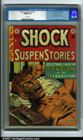 Golden Age (1938-1955):Horror, Shock SuspenStories #12 Gaines File pedigree 9/12 (EC, 1953) CGCVF/NM 9.0 White pages. This landmark anti-drug propaganda i...