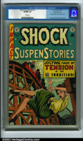 Golden Age (1938-1955):Horror, Shock SuspenStories #13 Gaines File pedigree 9/12 (EC, 1954) CGCVF/NM 9.0 White pages. One of the most desirable issues fr...