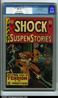 Golden Age (1938-1955):Horror, Shock SuspenStories #14 Gaines File pedigree 9/12 (EC, 1954) CGCNM- 9.2 Off-white to white pages. This issue was used in th...