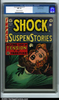 Golden Age (1938-1955):Horror, Shock SuspenStories #15 Gaines File pedigree 9/12 (EC, 1954) CGCNM- 9.2 Off-white to white pages. This infamous issue was u...