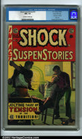 Golden Age (1938-1955):Horror, Shock SuspenStories #16 Gaines File pedigree 9/12 (EC, 1954) CGCNM+ 9.6 Off-white to white pages. This issue contains an ed...