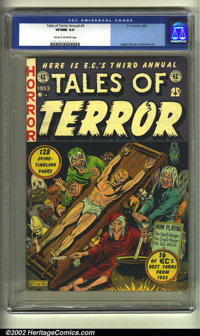 Tales of Terror Annual #3 (EC, 1953) CGC VF/NM 9.0 Cream to off-white pages. The third and final EC annual, created and...
