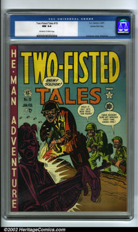 Two-Fisted Tales #19 Gaines File pedigree 7/10 (EC, 1951) CGC NM 9.4 Off-white to white pages. Yet another dazzling copy...