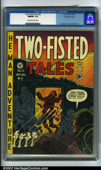 Two-Fisted Tales #22 Gaines File pedigree 7/10 (EC, 1951) CGC NM/MT 9.8 Off-white to white pages. This copy is a drop de...