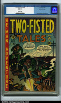 Golden Age (1938-1955):War, Two-Fisted Tales #25 Gaines File pedigree 7/10 (EC, 1952) CGC NM9.4 Off-white pages. An American soldier takes a bullet in...