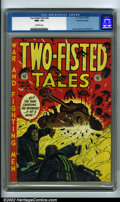 Golden Age (1938-1955):War, Two-Fisted Tales #28 Gaines File pedigree 7/10 (EC, 1952) CGC NM+ 9.6 Off-white pages. Reds and yellows are notorious for fa...