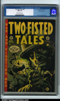 """Golden Age (1938-1955):Adventure, Two-Fisted Tales #30 Gaines File pedigree 8/11 (EC, 1952) CGC NM- 9.2 Off-white to white pages. Delivering tales of """"War an..."""