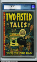 Golden Age (1938-1955):War, Two-Fisted Tales #31 Gaines File pedigree 6/12 (EC, 1953) CGC NM- 9.2 Off-white to white pages. They're skipping the shots i...