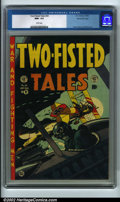 Golden Age (1938-1955):War, Two-Fisted Tales #34 Gaines File pedigree 8/11 (EC, 1953) CGC NM+ 9.6 White pages. This issue has a classic World War One fi...