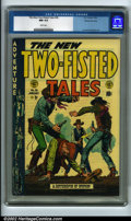 Golden Age (1938-1955):War, Two-Fisted Tales #36 Gaines File pedigree 8/11 (EC, 1954) CGC NM9.4 White pages. White cover issues like this one are diffi...
