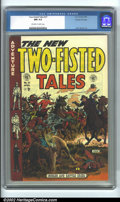 Golden Age (1938-1955):War, Two-Fisted Tales #37 Gaines File pedigree 9/12 (EC, 1954) CGC NM9.4 Off-white to white pages. The background on the cover o...
